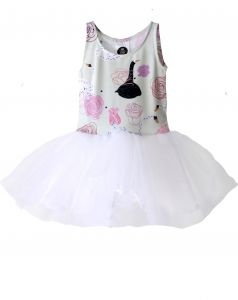 Dress SWAN with Flowers tulle