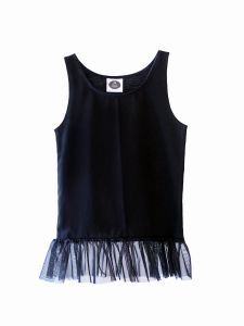 Tank Top BLACK with frill