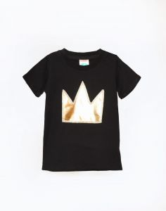 T-shirt GOLD CROWN black