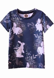 T-Shirt RABBIT navy blue