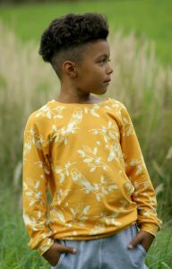 Bluza RETRO BIRDS mustard