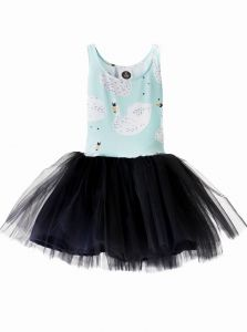 Dress SWAN blue Tulle