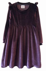 Sukienka VELOUR brown