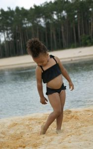 Swimsuit FRILL black 2-pcs