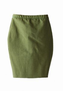 Skirt PENCIL khaki